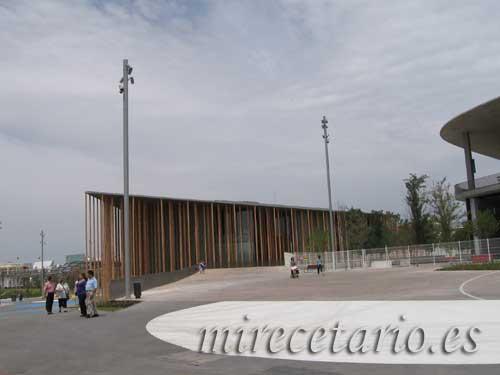 El pabellón de España y las obras