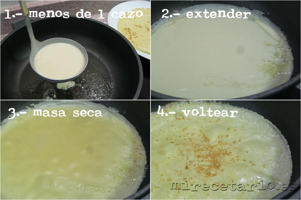 Cómo hacer crepes caseras