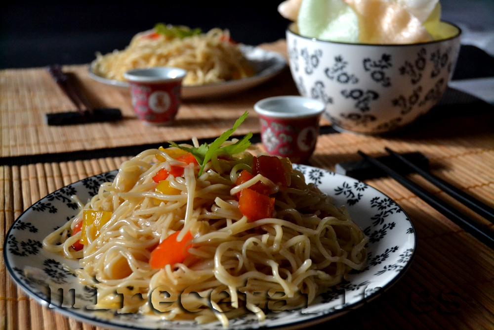 Wok de fideos a la miel for Cocinar wok en casa