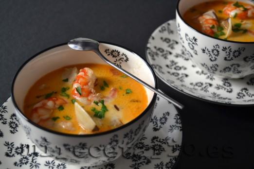 Seafood Chowder - Sopa de pescado