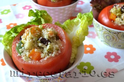 Tomates rellenos de cuscus de verduras