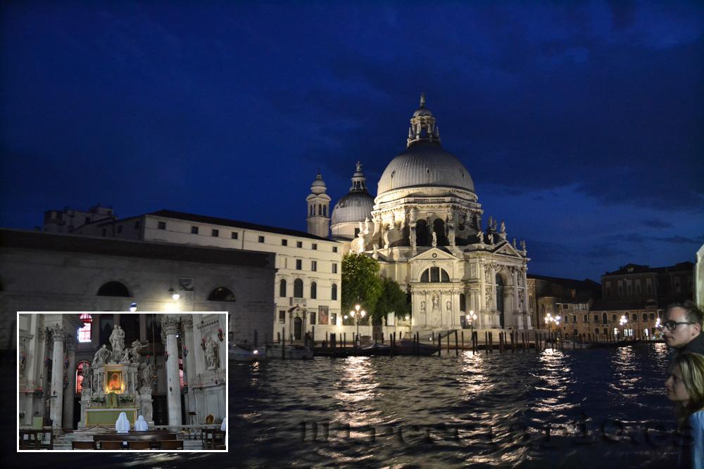 Venecia de noche, Santuario de La Salute