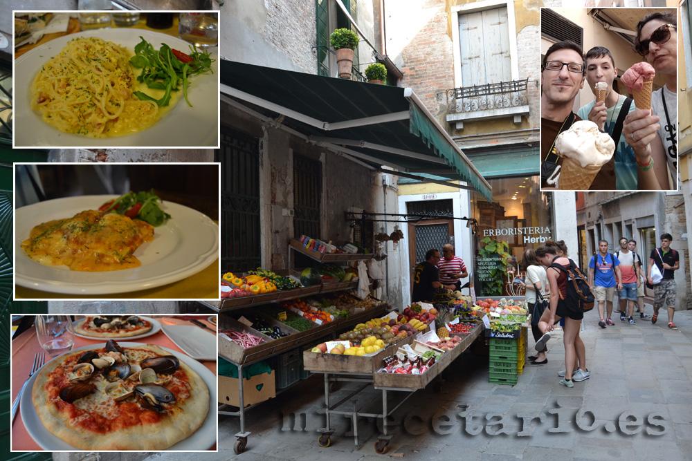 Comer en Venecia